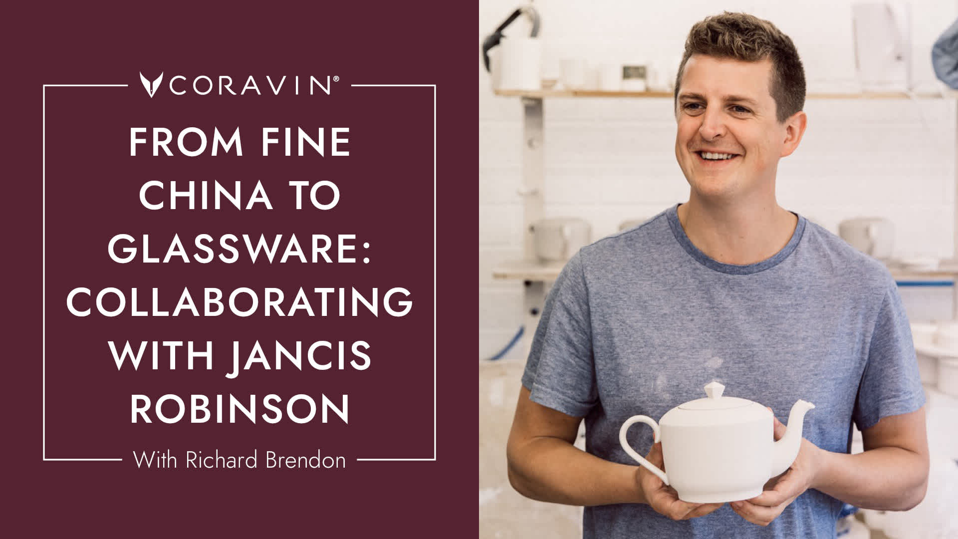 photo of richard brendon holding a tea cup with text to the right