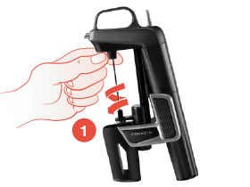 Unscrew the Needle from the Coravin Wine Preservation System