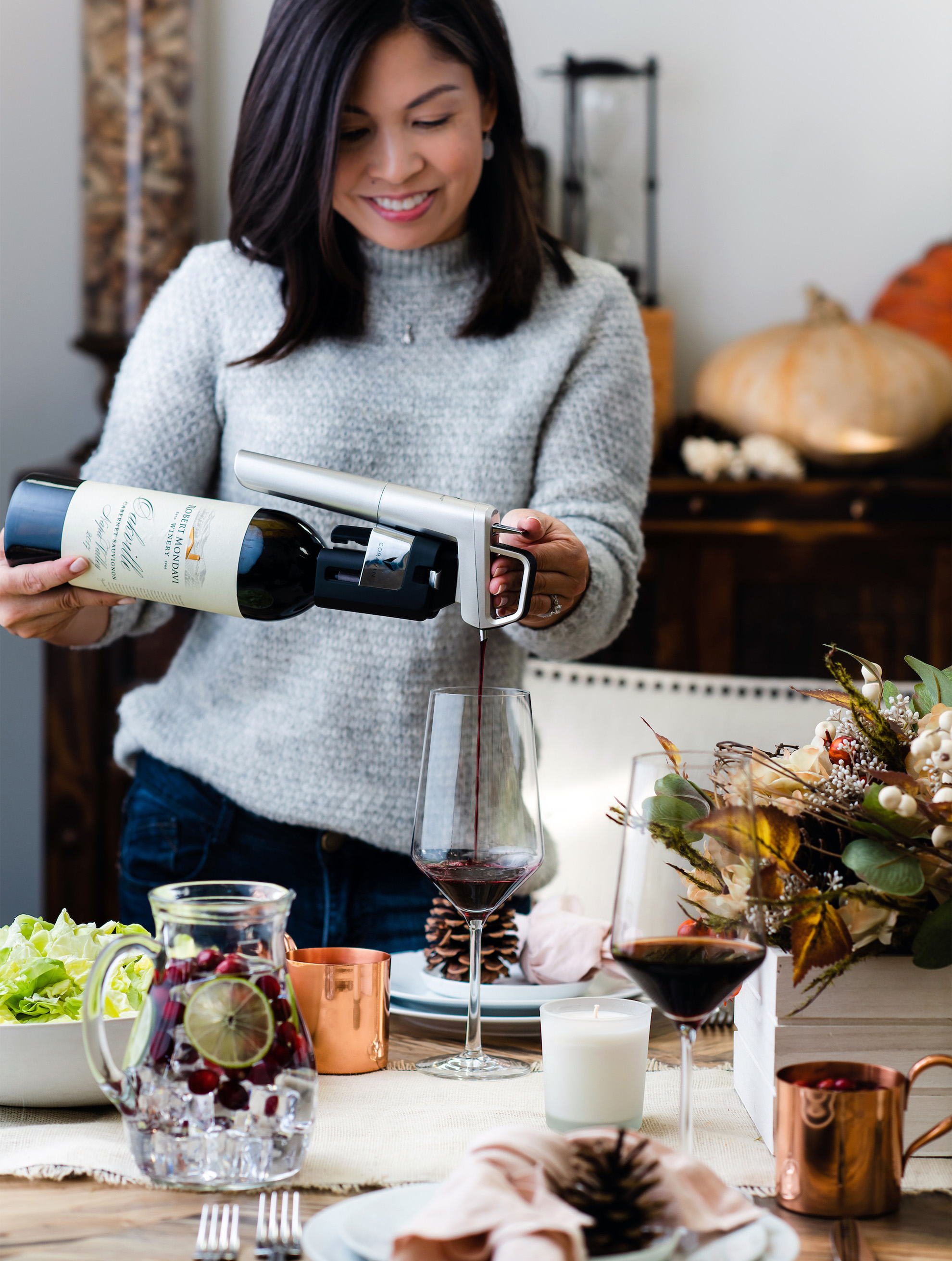 Blog IMG - Liren Baker pouring with Coravin