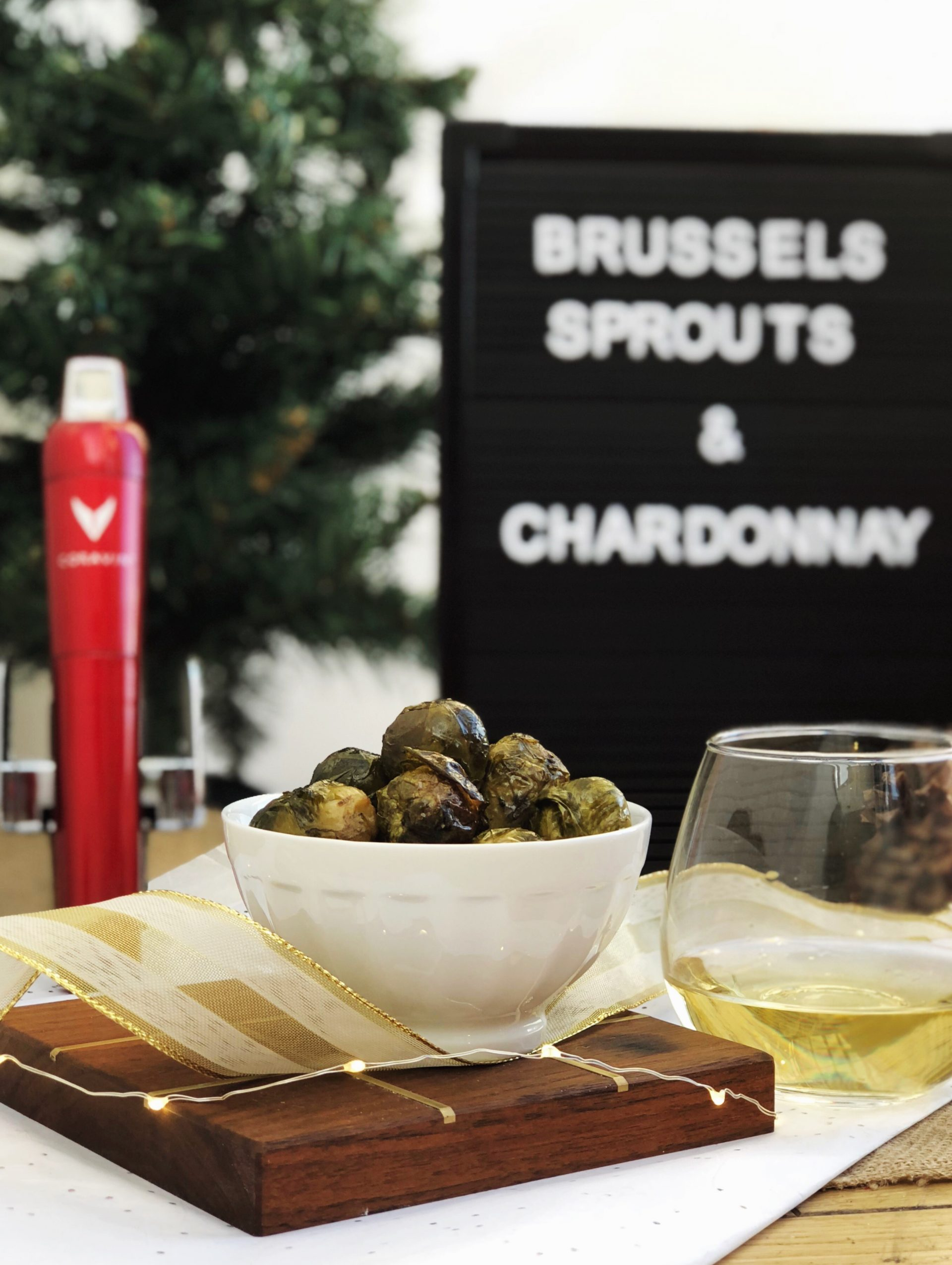 christmas wine pairings brussels sprouts and chardonnay