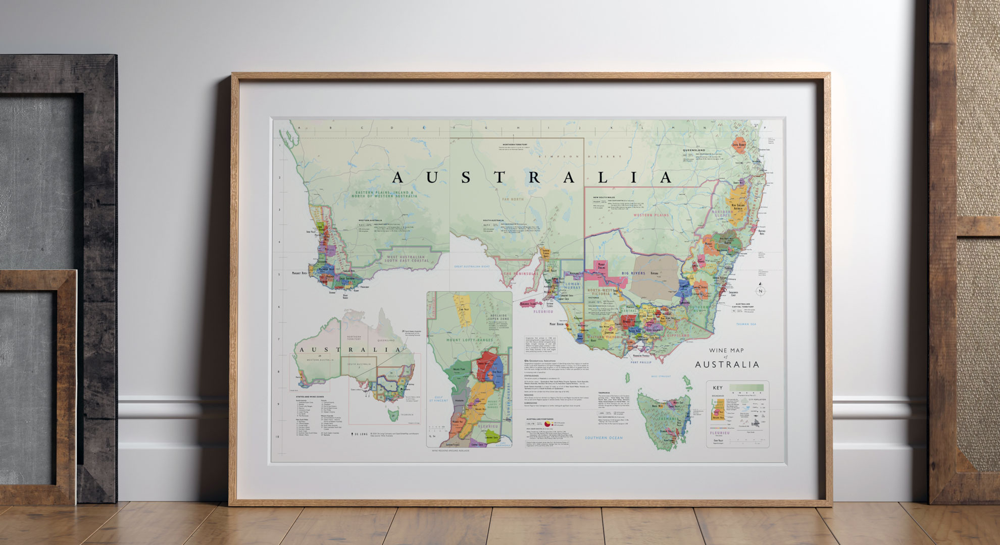 De Long is an independent publisher of the world's finest wine maps, charts, and tasting notebooks.