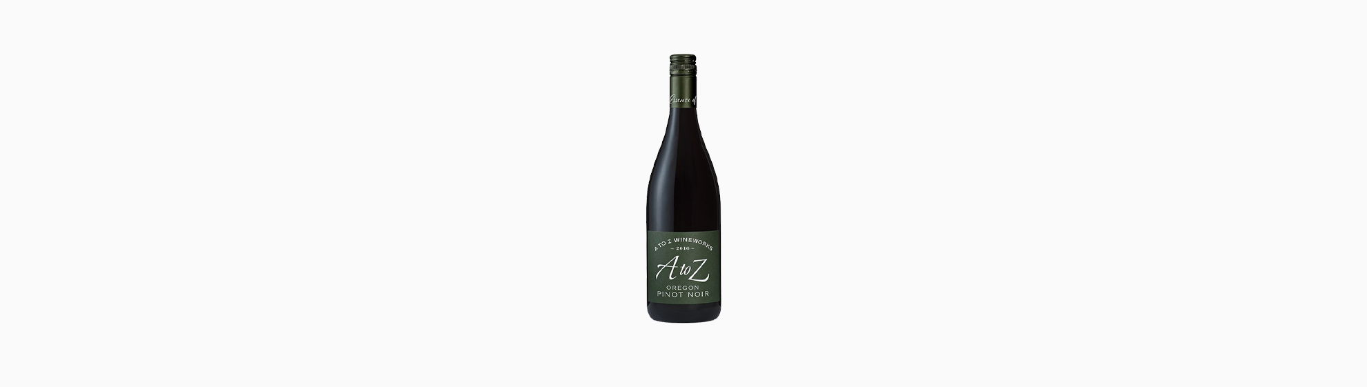 Wine bottle of A to Z Oregon Pinot Noir 2016