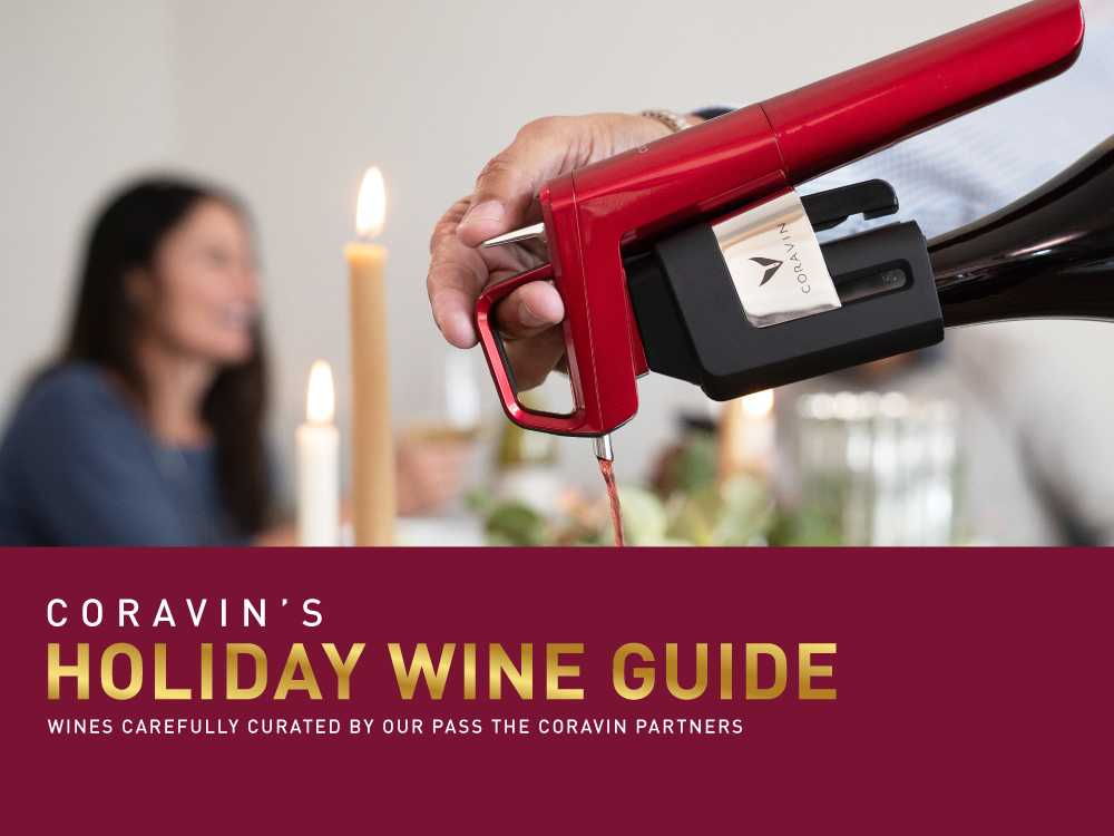 Holiday wine guide graphic