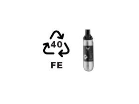 Capsule recycling symbol beside a small image of a Coravin Pure™ Capsule