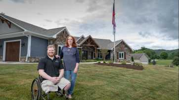 U.S. Army (Ret.) Staff Sergeant Casey Jones Home Dedication