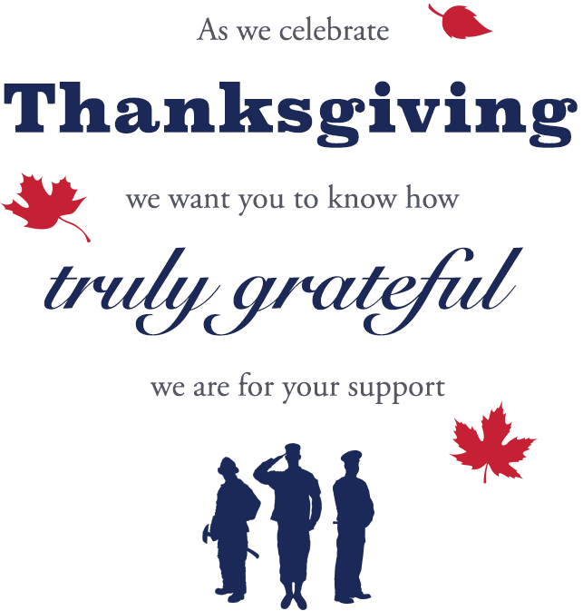 We Re So Thankful For You Our Gsf Family Gary Sinise Foundation