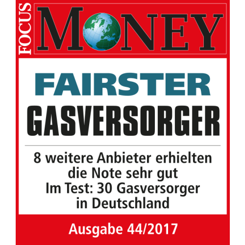 Focus Money Testurteil fairster Gasversorger