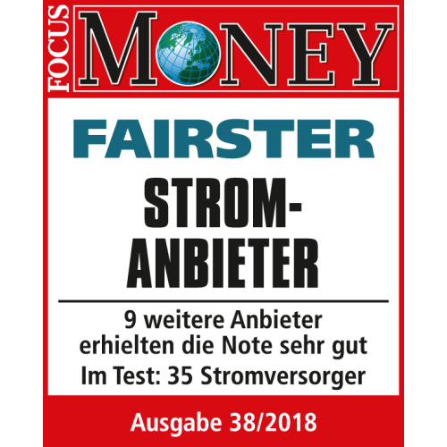 Focus Money Testurteil fairster Stromanbieter