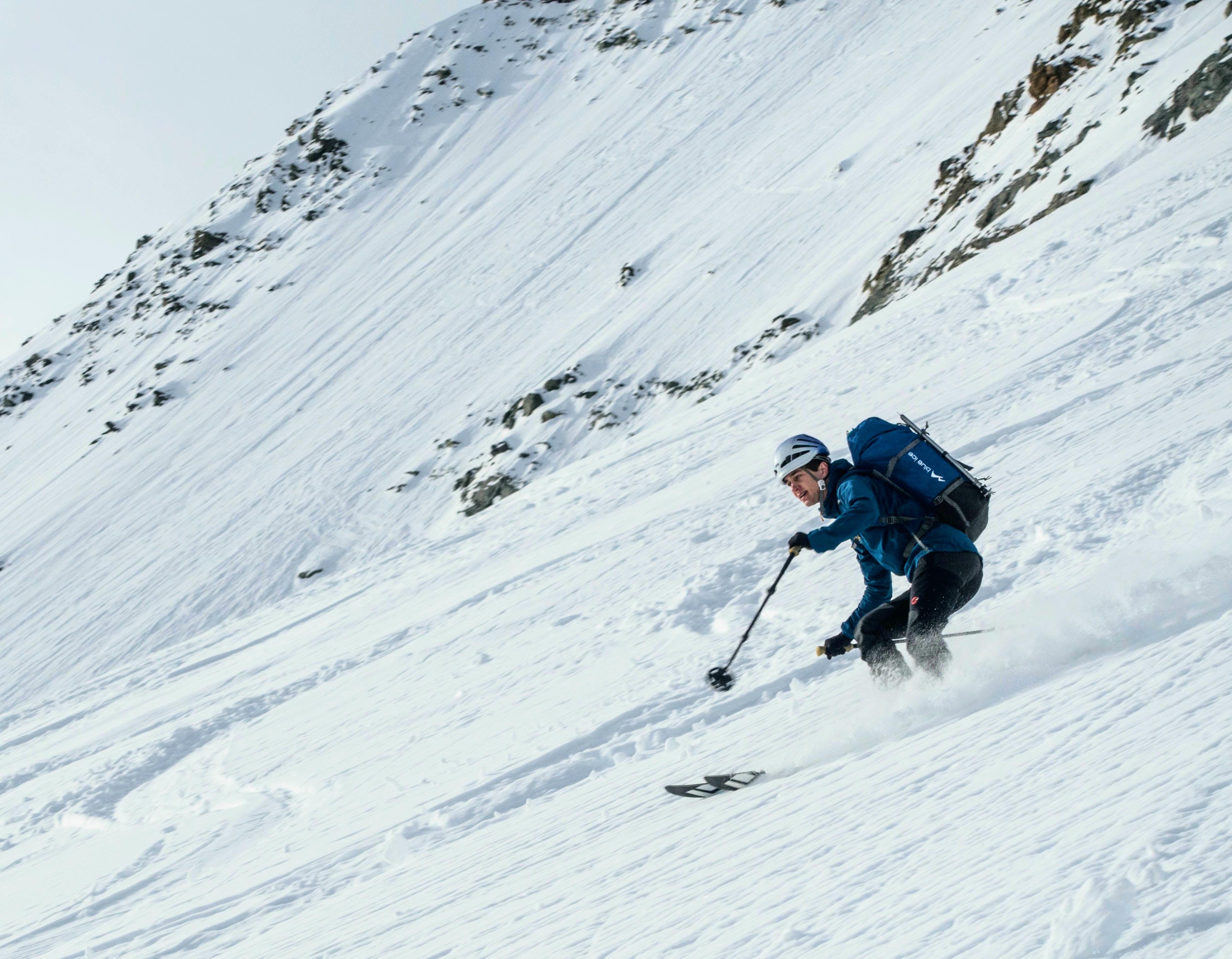 Me (Wouter Bles) descending the Col du Pigne