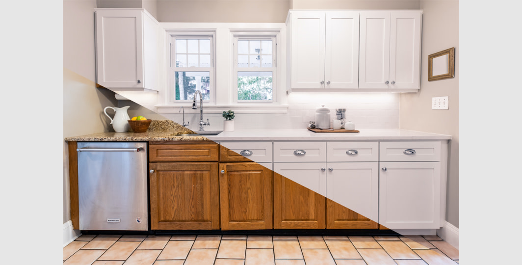 Cabinet Makeover At The Home Depot, Kitchen Cabinet Refacing Before After Photos
