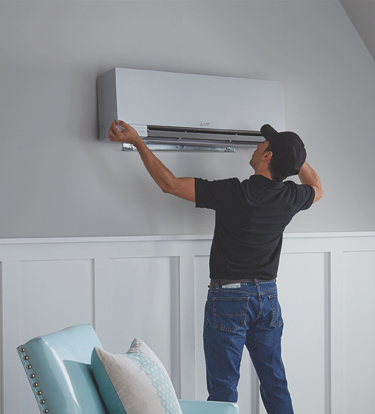 Mitsubishi Ductless Mini Split Air Conditioning At The