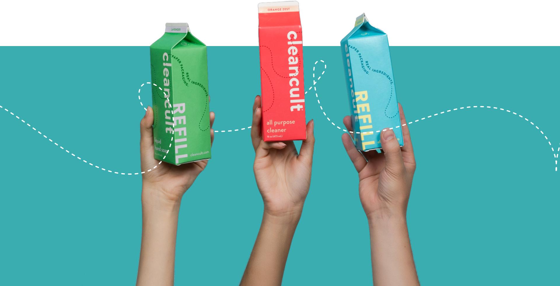 Person Refills Glass Bottles