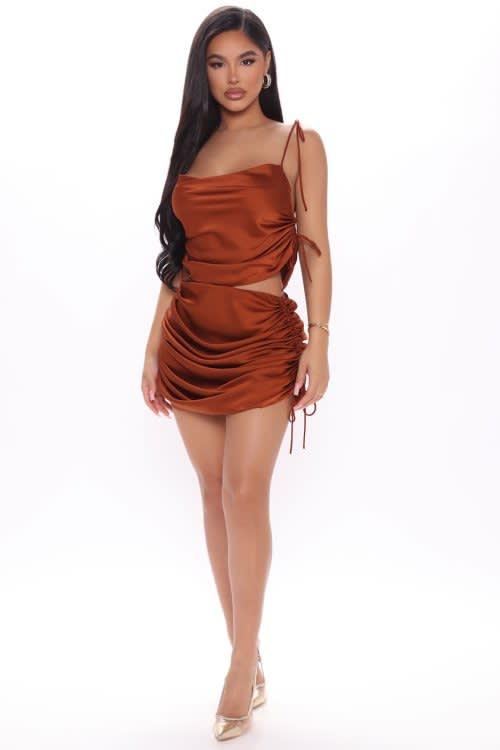 Satin Skirt Set