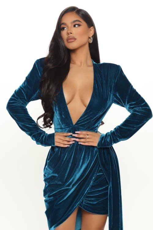 Venice Velvet Mini Dress