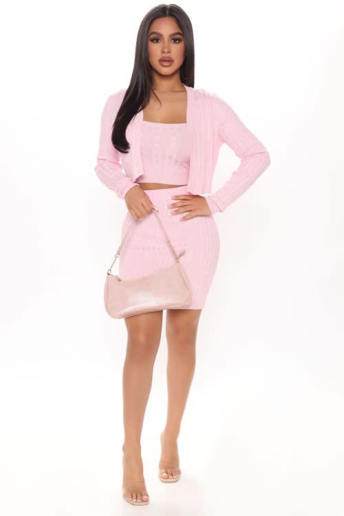 Get Knit Together 3 Piece Sweater Skirt Set