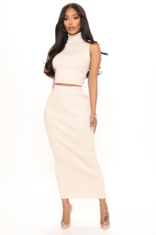 Love On The Side Sweater Skirt Set