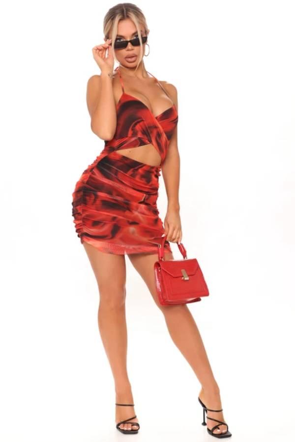 Ali Mesh Mini Dress