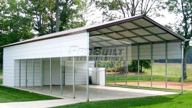 22' x 51' x 9' Vertical roof utility