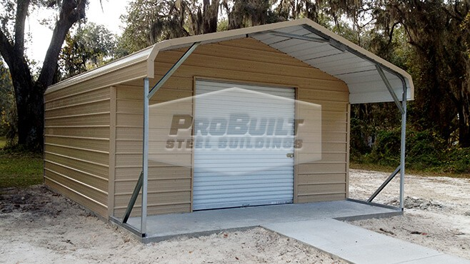 12' x 21' x 6' Regular roof utility building
