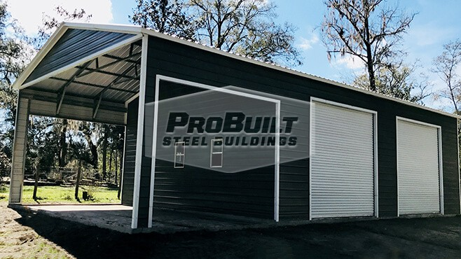 30' x 51' x 14' Utility with side entry roll up doors