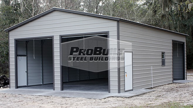 26' x 41' x 12' Vertical roof double garage