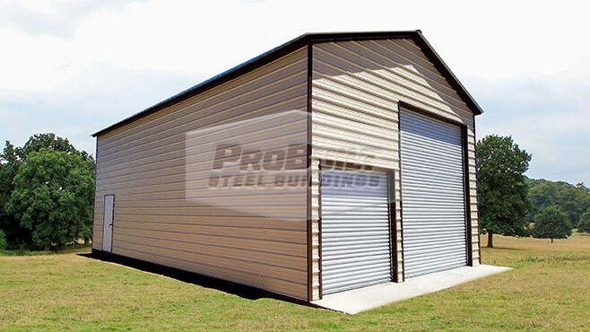 24' x 51' x 15' Vertical roof Double RV garage