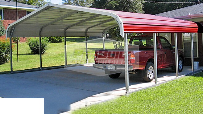18' x 21' x 6' Regular roof carport