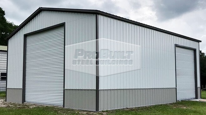 40' x 61' x 12' All vertical garage with side entry