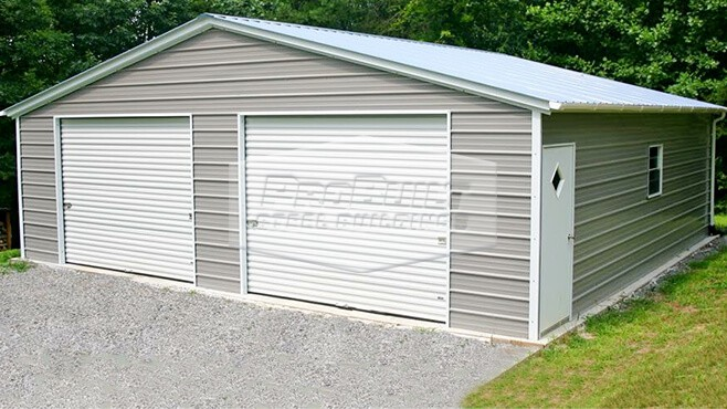 30'x 31' x 8' Vertical roof garage