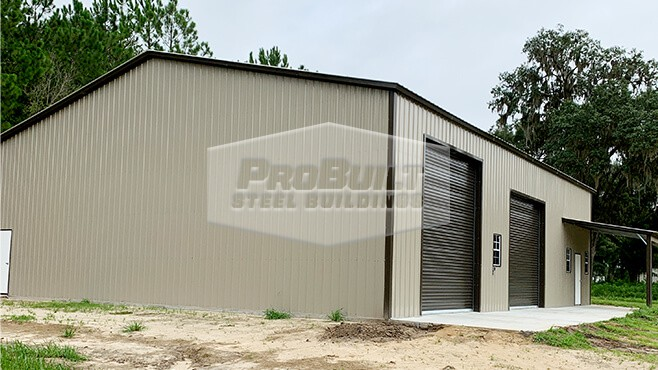 50x61x16 Vertical roof and wall garage or shop