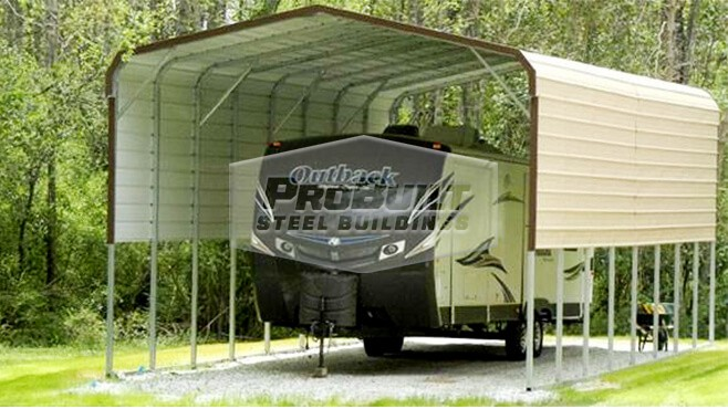 18' x 41' x 12' Regular Roof RV Carport