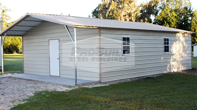 related image - 24' x 41' x 8' Vertical roof utility building