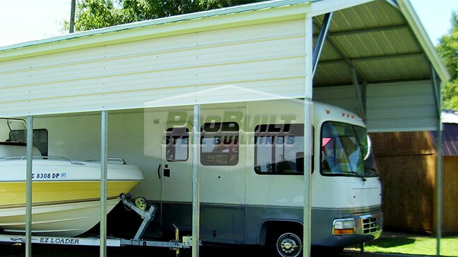 22' x 36' x 10' Vertical Roof RV Carport