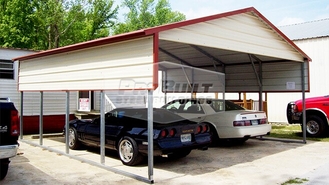 related image - 22' x 21' x 8' A-frame roof carport