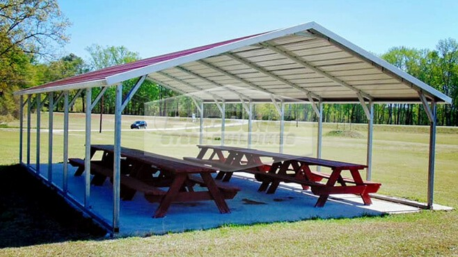 related image - 20' x 31' x 7' A-frame roof carport