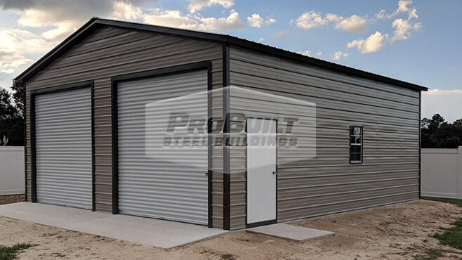 26' x 31' x 11' Vertical roof garage