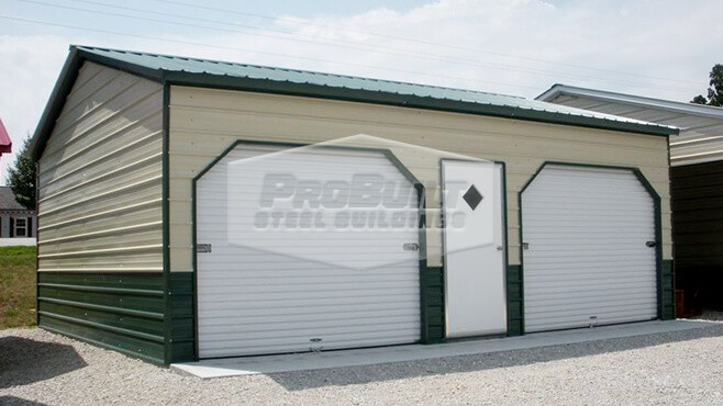 22' x 26' x 10' Vertical roof side entry double garage