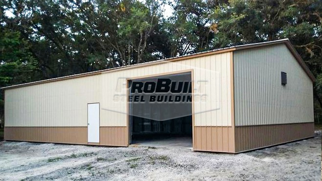 30'x51'x12' Clear Span Garage All Vertical
