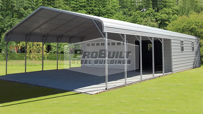 24' x 46' x 7' Utility with Regular roof style