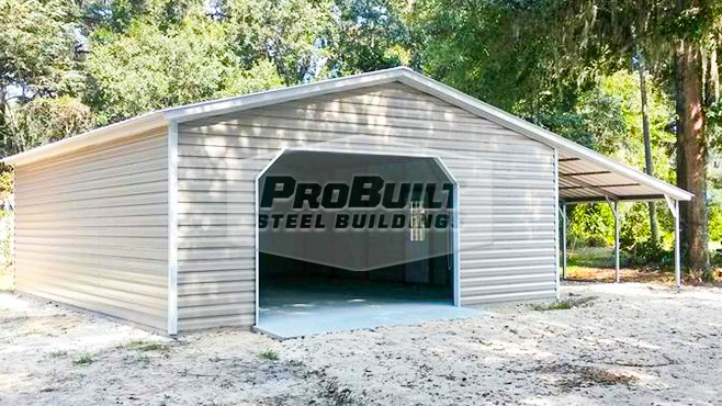 24'x31'x9' Garage with a 12'x31'x6' Lean to