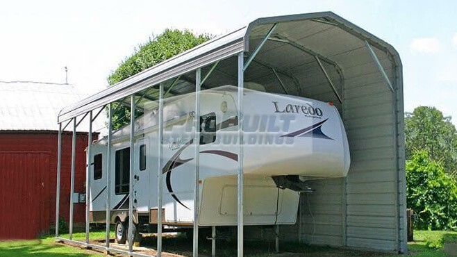 12' x 36' x 12' Regular roof RV carport