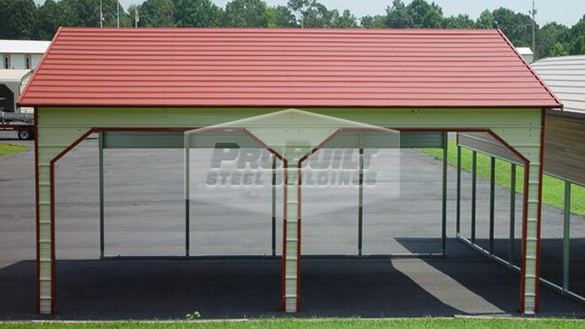 22' x 26' x 8' A-frame Side Entry carport