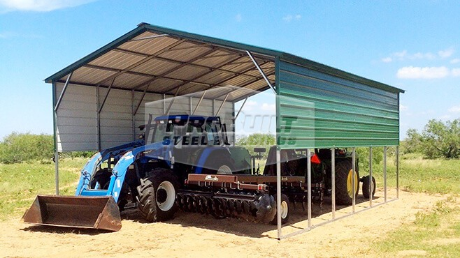 20' x 31' x 11' Vertical roof carport with 2 panels each side
