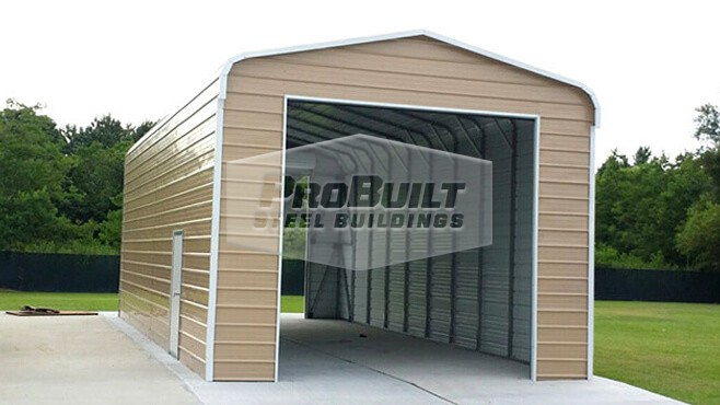 18' x 51' x 12' Regular Roof RV Garage