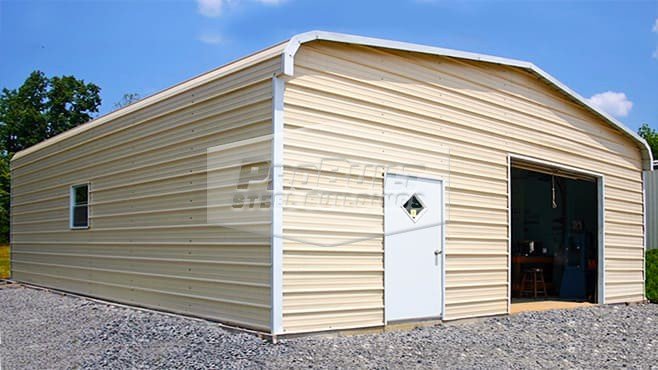 24' x 26' x 9' Regular roof garage