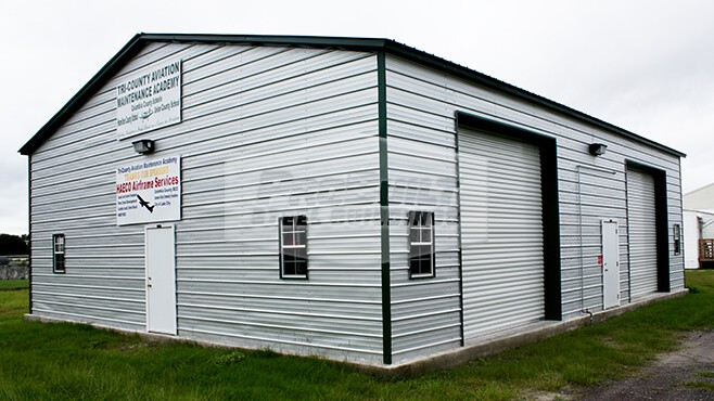 40' x 51' x 14' Vertical roof garage with side entry