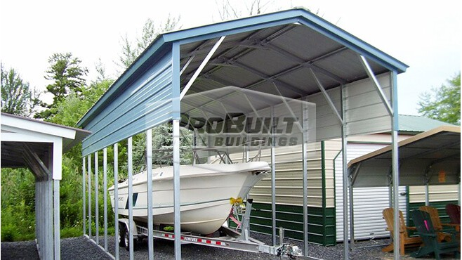 12' x 36' x 10' Vertical Roof RV carport