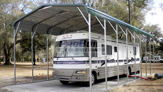 18' x 41' x 10' Regular Roof RV carport