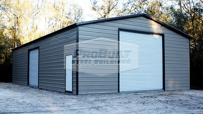 30' x 51' x 12' Vertical roof garage