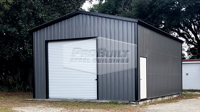 20' x 31' x 12' Vertical roof and siding garage